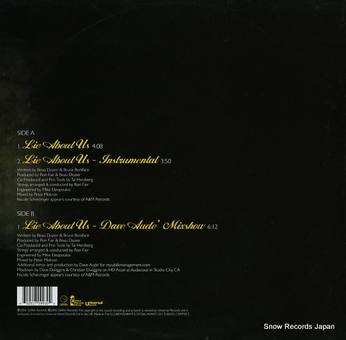 AVANT lie about us AVANT1201 - back cover