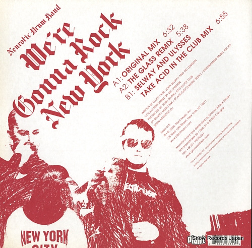 NEUROTIC DRUM BAND we're gonna rock new york SEED015 - back cover