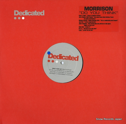 MORRISON do you think DED023 - front cover