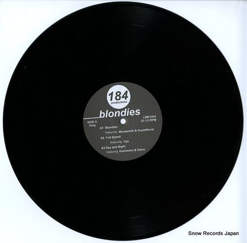 184 PRODUCTIONS blondies ep LMR1204 - disc
