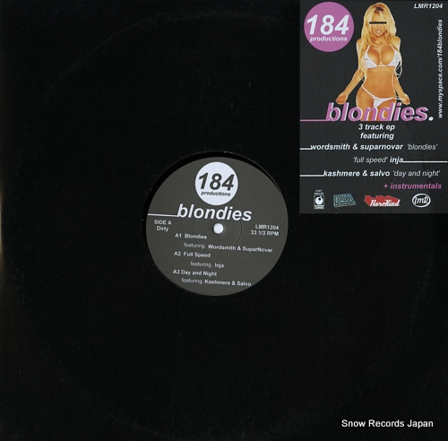 184 PRODUCTIONS blondies ep LMR1204 - front cover