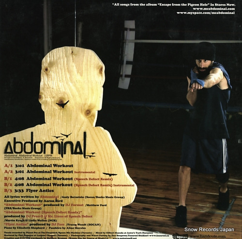 ABDOMINAL abdominal workout BAD-058 - back cover