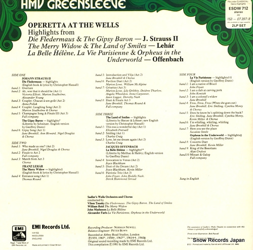 V/A operetta at the wells ESDW712 - back cover