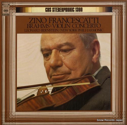 FRANCESKATTI, ZINO brahms; violin concerto in d major, op.77 13AC29 - front cover
