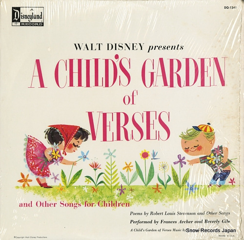 ARCHER, FRANCES, AND BEVERLY GILE walt disney presents a child's garden of verses DQ-1241