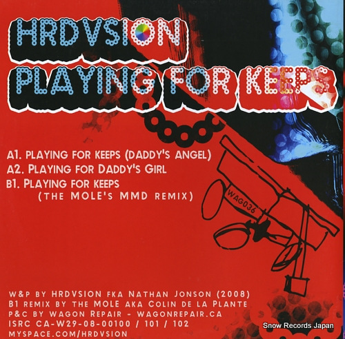 HRDVSION playing for keeps WAG036 - back cover