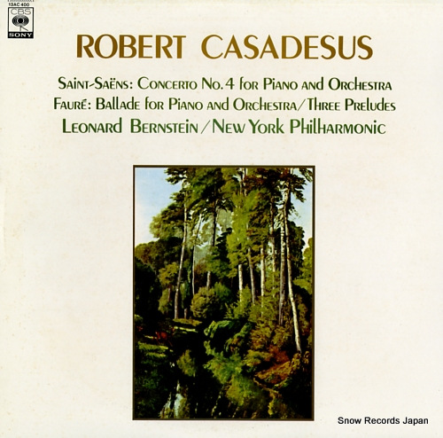 CASADESUS, ROBERT saint-saens; concerto no.4 for piano and orchestra 13AC400 - front cover