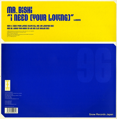 MR.BISHI i need your loving TTRAX096 - back cover