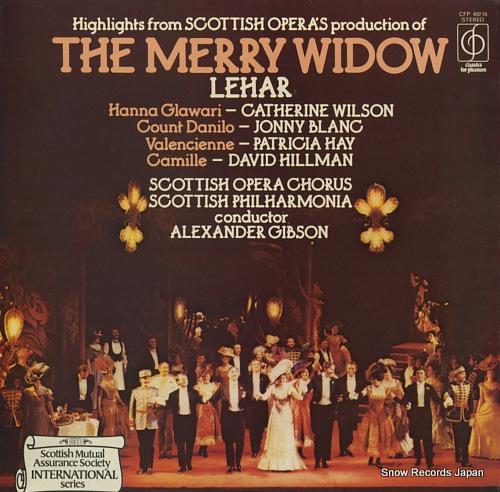 GIBSON, ALEXANDER lehar; the merry widow CFP40276 - front cover