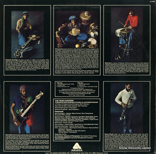 HEADHUNTERS, THE survival of the fittest AL4038 - back cover