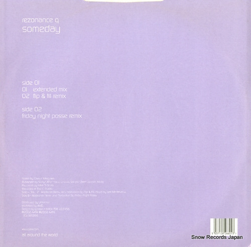 REZONANCE Q someday 12GLOBE266 - back cover
