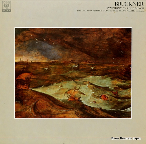 WALTER, BRUNO bruckner; symphony no.9 in d minor FCCA519 - front cover