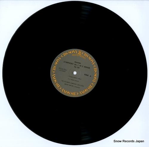 WALTER, BRUNO brahms; symphony no.1 in c minor, op.68 FCCA520 - disc