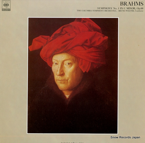 WALTER, BRUNO brahms; symphony no.1 in c minor, op.68 FCCA520 - front cover