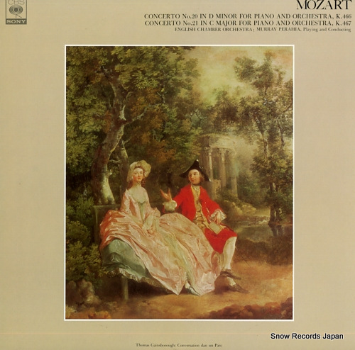 PERAHIA, MURRAY mozart; concerto no.20 in d minor for piano and orchestra, k.466 FCCA537 - front cover