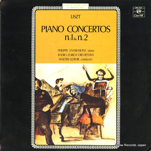 ENTREMONT, PHILIPPE liszt; piano concertos no.1&no.2 SMS-2727 - front cover