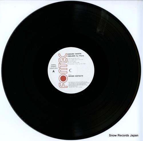 V/A saburo takata; preludes for piano FONC-5033 - disc
