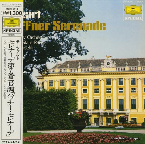 KUBELIK, RAFAEL mazart; haffner serenade MGW5111 - front cover