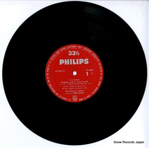 JOCHUM, EUGEN beethoven; symphony no.5 FL-4506 - disc
