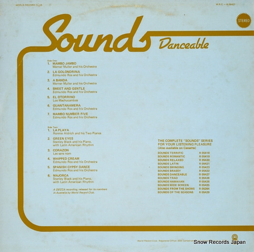 V/A sounds danceable R05427 - back cover
