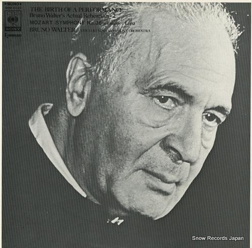 WALTER, BRUNO mozart; symphony no.36 in c major