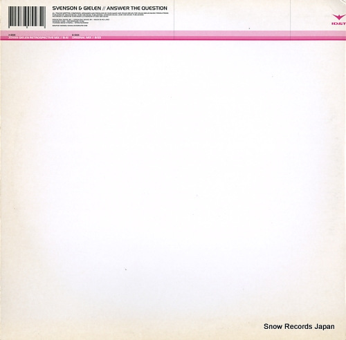 SVENSON & GIELEN answer the question 7005565 - back cover