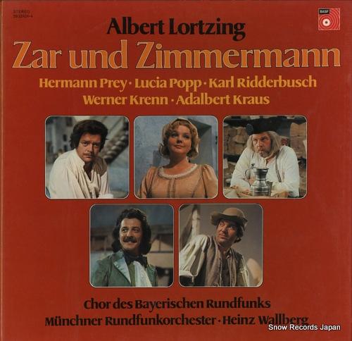 WALLBERG, HEINZ albert lortzing; zar und zimmermann 5922424-4 - front cover