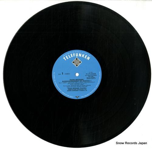 BRUGGEN, FRANS blockfloten werke des barock-1 K17C-8308 - disc
