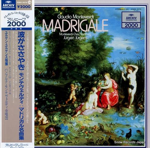JURGENS, JURGEN claudio monteverdi; madrigale 20MA0078 - front cover