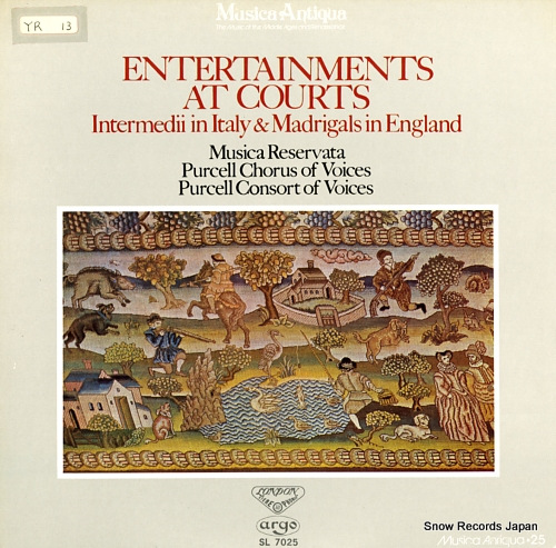 MUSICA RESERVATA entertainments at courts SL7025 - front cover