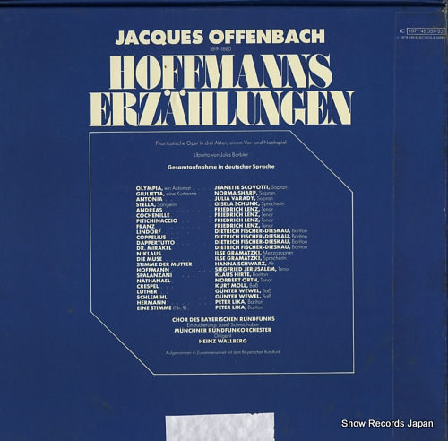WALLBERG, HEINZ offenbach; hoffmanns erzahlungen 1C157-45351/53 - back cover