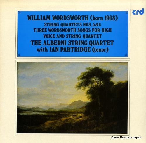 ALBERNI STRING QUARTET, THE wordsworth; string quartets nos.5 & 6 CRD1097 - front cover