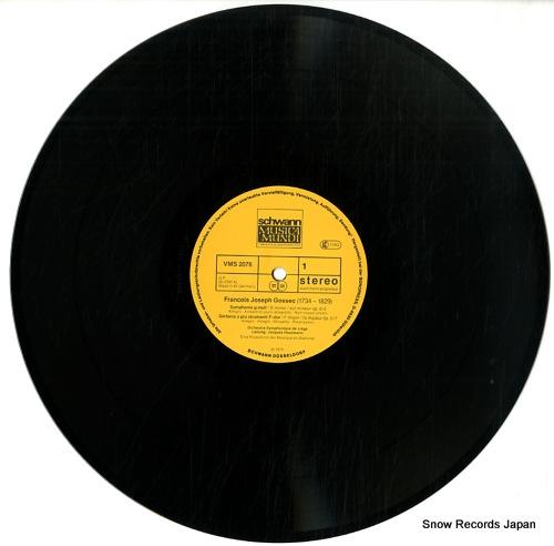 HOUTMANN, JACQUES francois-joseph gossec; symphonies VMS2076 - disc