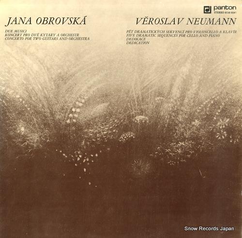 OBROVSKA, JANA / VEROSLAV NEUMANN due musici / dedication 81100185 - front cover