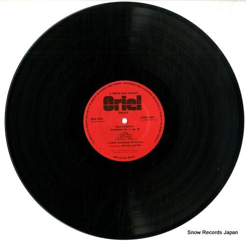 DEL MAR, NORMAN alun hoddinott; symphony no.2, variants for orchestra ORM1003 - disc