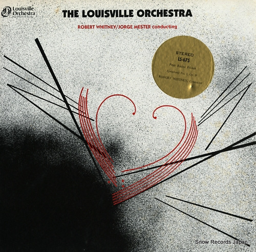 WHITNEY, ROBERT peter racine fricker; symphony no.1, no.9 / the louisville orchestra LS-675 - front cover