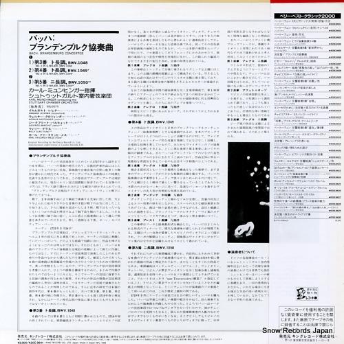 MUNCHINGER, KARL bach; brandenburg concertos nos.3, 4 & 5 K20C-8641 - back cover