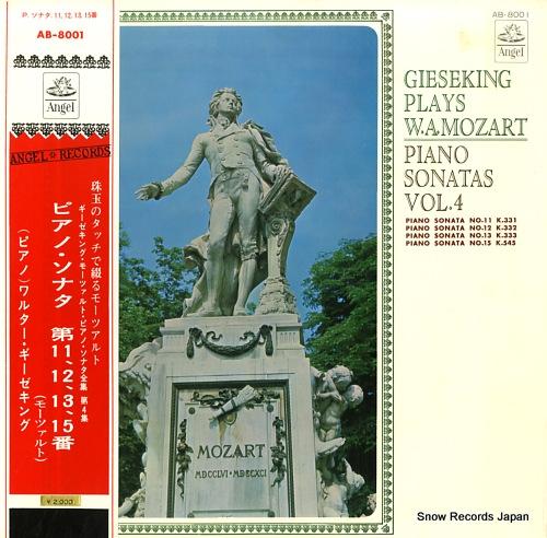 GIESEKING, WALTER mozart piano sonatas vol.4 AB-8001 - front cover