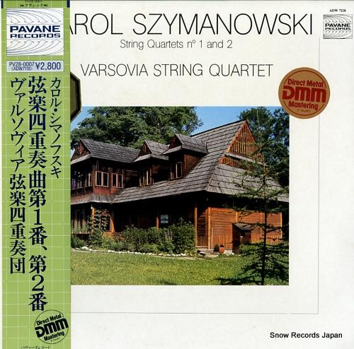 VARSOVIA STRING QUARTET, THE karol szymanowski; string quartets no.1 and 2 PV28-0007/ADW7118 - front cover