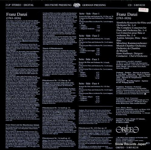ADORJAN, ANDRAS franz danzi; the complete flute concertos S003812H - back cover