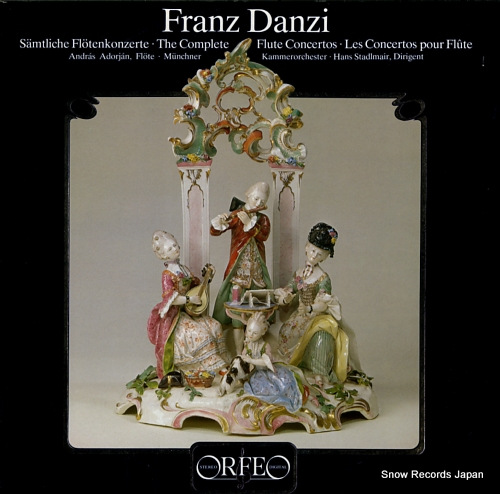 ADORJAN, ANDRAS franz danzi; the complete flute concertos S003812H - front cover