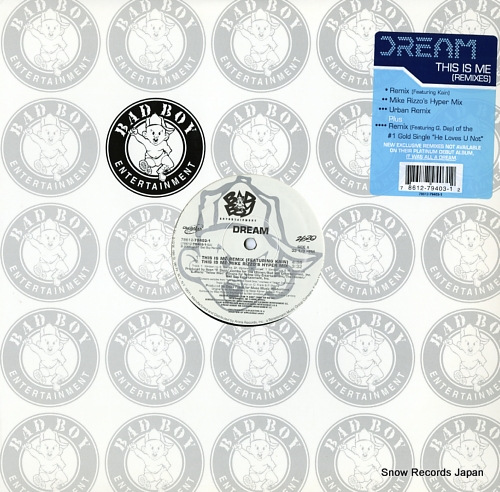 DREAM this is me(remixes) 78612-79403-1 - front cover