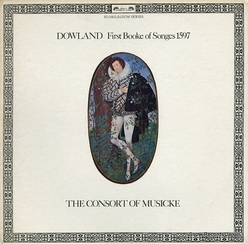 CONSORT OF MUSICKE, THE dowland; first booke of songes 1597 DSLO508-9 - front cover