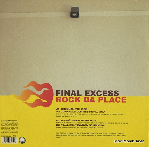 FINAL EXCESS rock da place 5050466-3234-0-8 - back cover