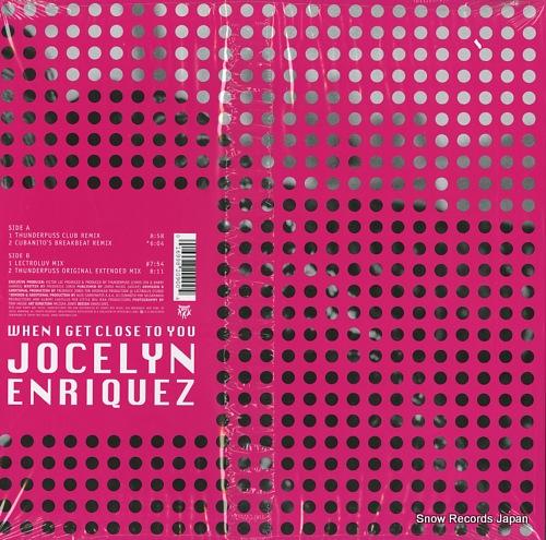 ENRIQUEZ, JOCELYN when i get close to you TB2090 - back cover