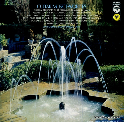 BERLINER, JAY / BETHO DAVEZAC guitar music favorites MS-1220-N - front cover