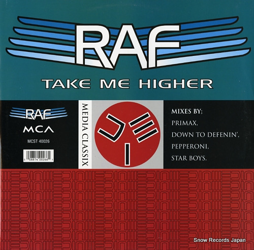 R.A.F. take me higher MCST40026 - front cover