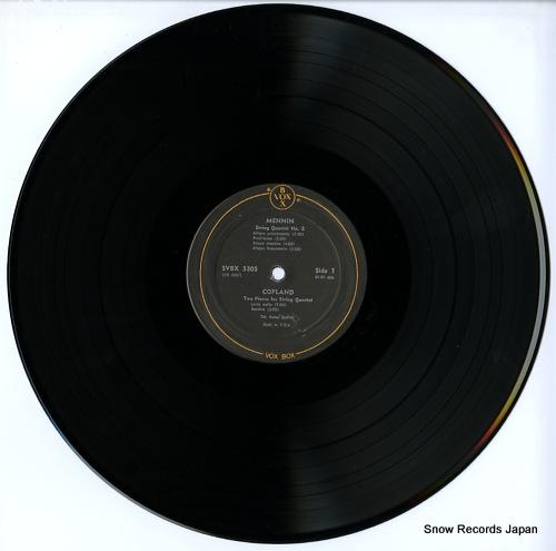 KOHON QUARTET, THE american string quartets volume 2:(1900-1950) SVBX5305 - disc