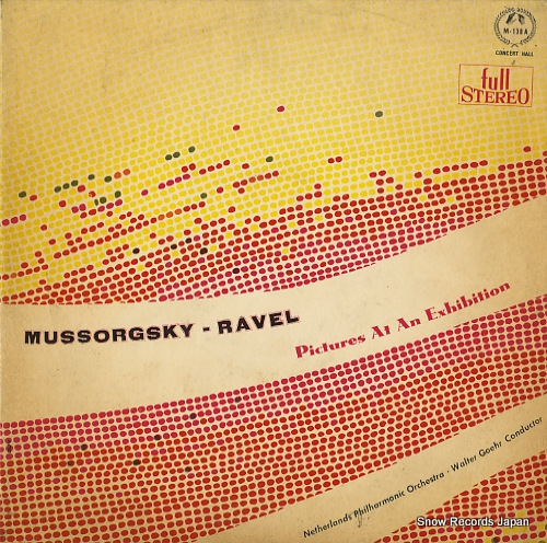 GOEHR, WALTER mussorgsky-ravel; pictures at an exhibition M-138A - front cover