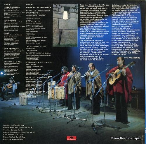 LOS ANDARIEGOS madre luz latinoamerica MP2580 - back cover